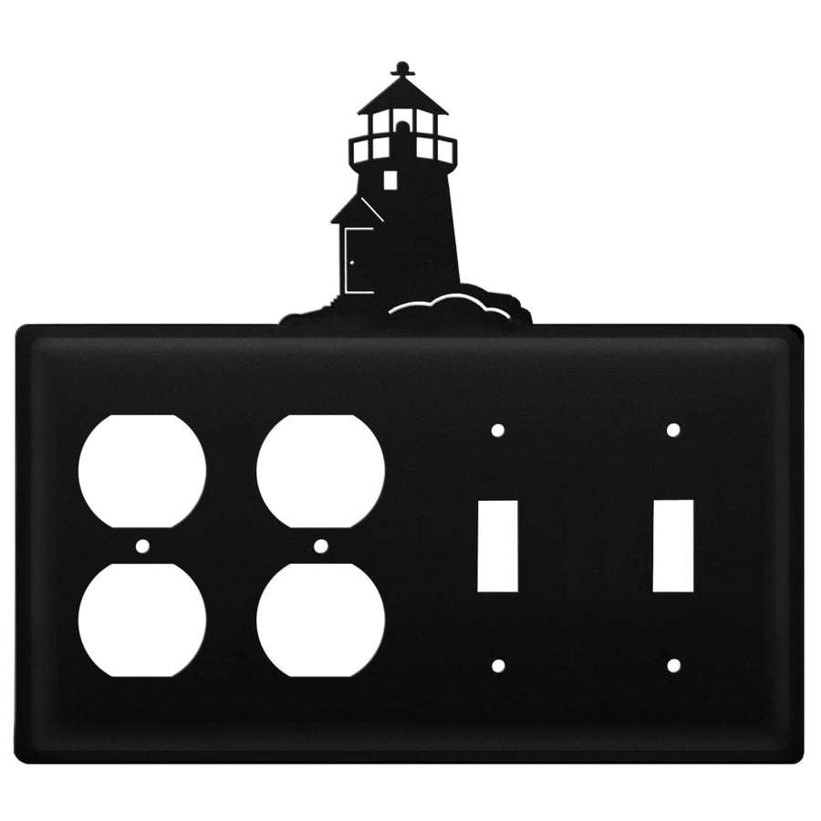 Wrought Iron Lighthouse Double Outlet Double Switch Cover light switch covers lightswitch covers