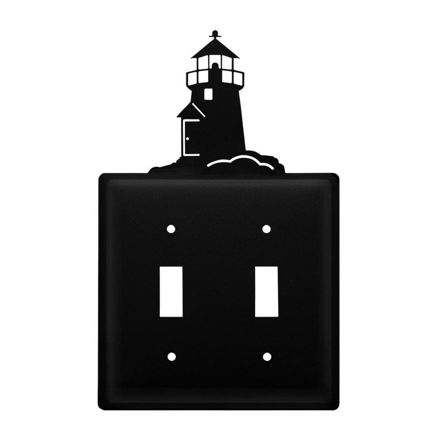 Wrought Iron Lighthouse Double Switch Cover light switch covers lightswitch covers outlet cover