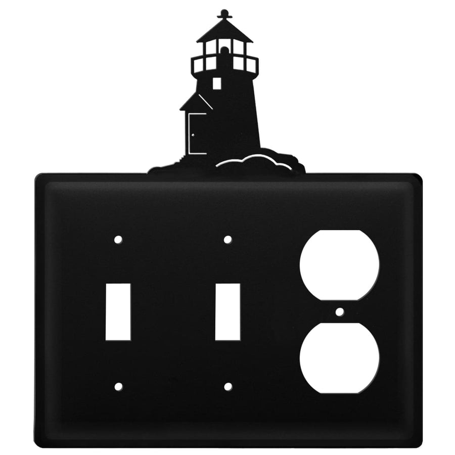 Wrought Iron Lighthouse Double Switch & Single Outlet Cover new outlet cover Wrought Iron Lighthouse