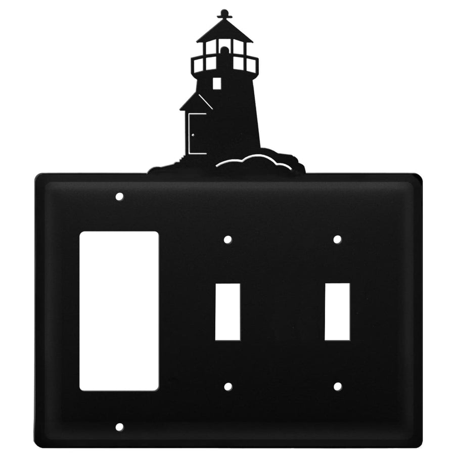 Wrought Iron Lighthouse GFCI Double Switch Cover light switch covers lightswitch covers outlet cover