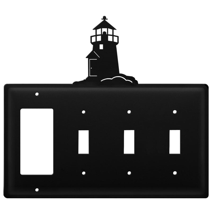 Wrought Iron Lighthouse GFCI Triple Switch Cover light switch covers lightswitch covers outlet cover
