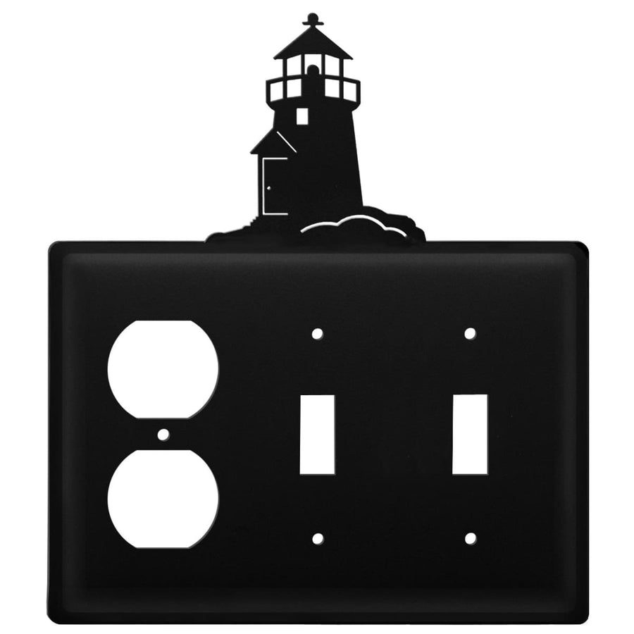 Wrought Iron Lighthouse Outlet Double Switch Cover light switch covers lightswitch covers outlet