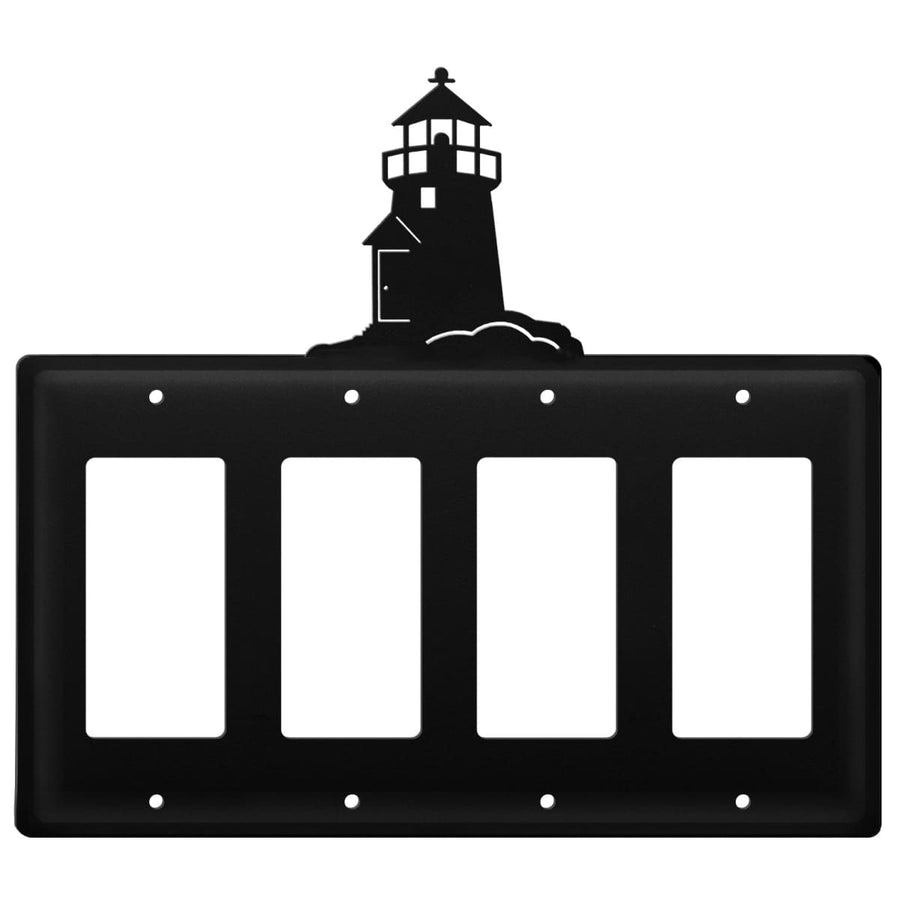 Wrought Iron Lighthouse Quad GFCI Cover light switch covers lightswitch covers outlet cover switch