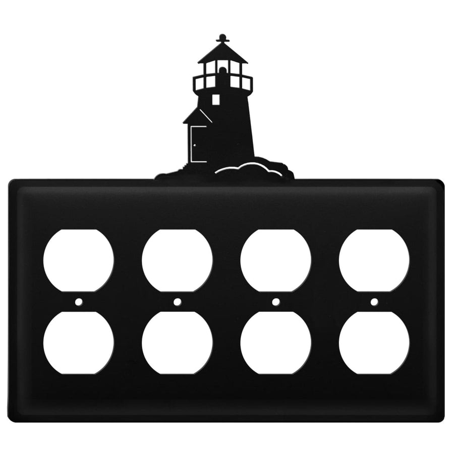 Wrought Iron Lighthouse Quad Outlet Cover light switch covers lightswitch covers outlet cover switch