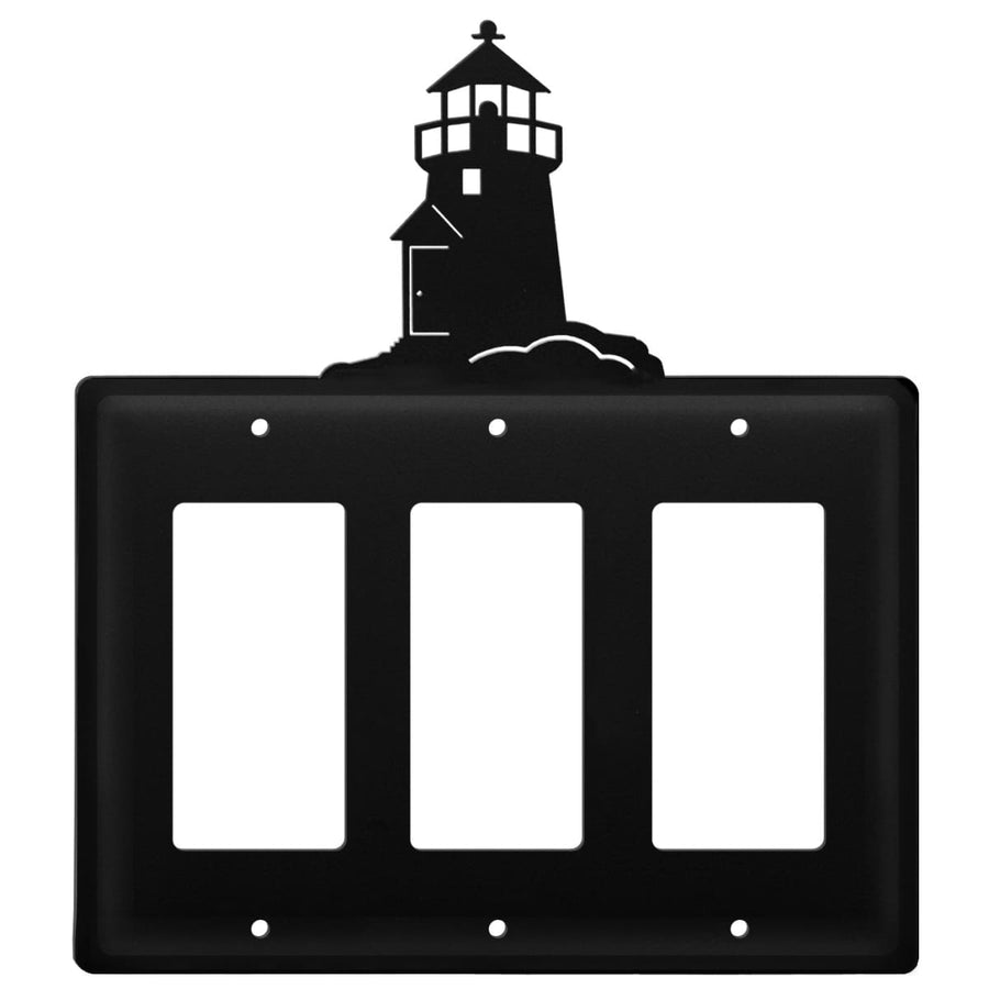 Wrought Iron Lighthouse Triple GFCI Cover light switch covers lightswitch covers outlet cover switch