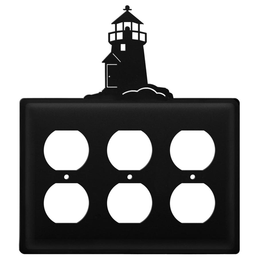 Wrought Iron Lighthouse Triple Outlet Cover light switch covers lightswitch covers outlet cover