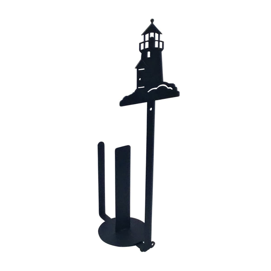 Wrought Iron Lighthouse Vertical Wall Paper Towel Holder kitchen towel holder paper towel dispenser