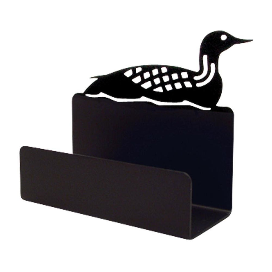 Wrought Iron Loon Business Card Holder card holder new Wrought Iron Loon Business Card Holder