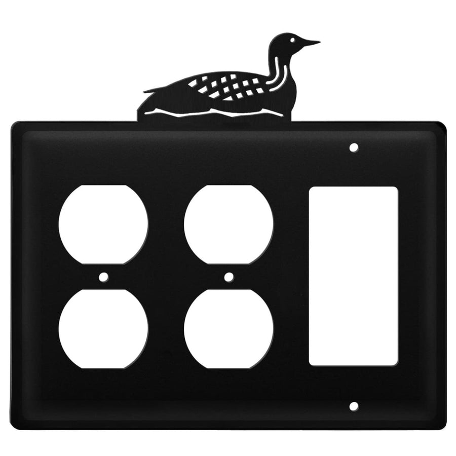 Wrought Iron Loon Double Outlet GFCI Cover light switch covers lightswitch covers outlet cover