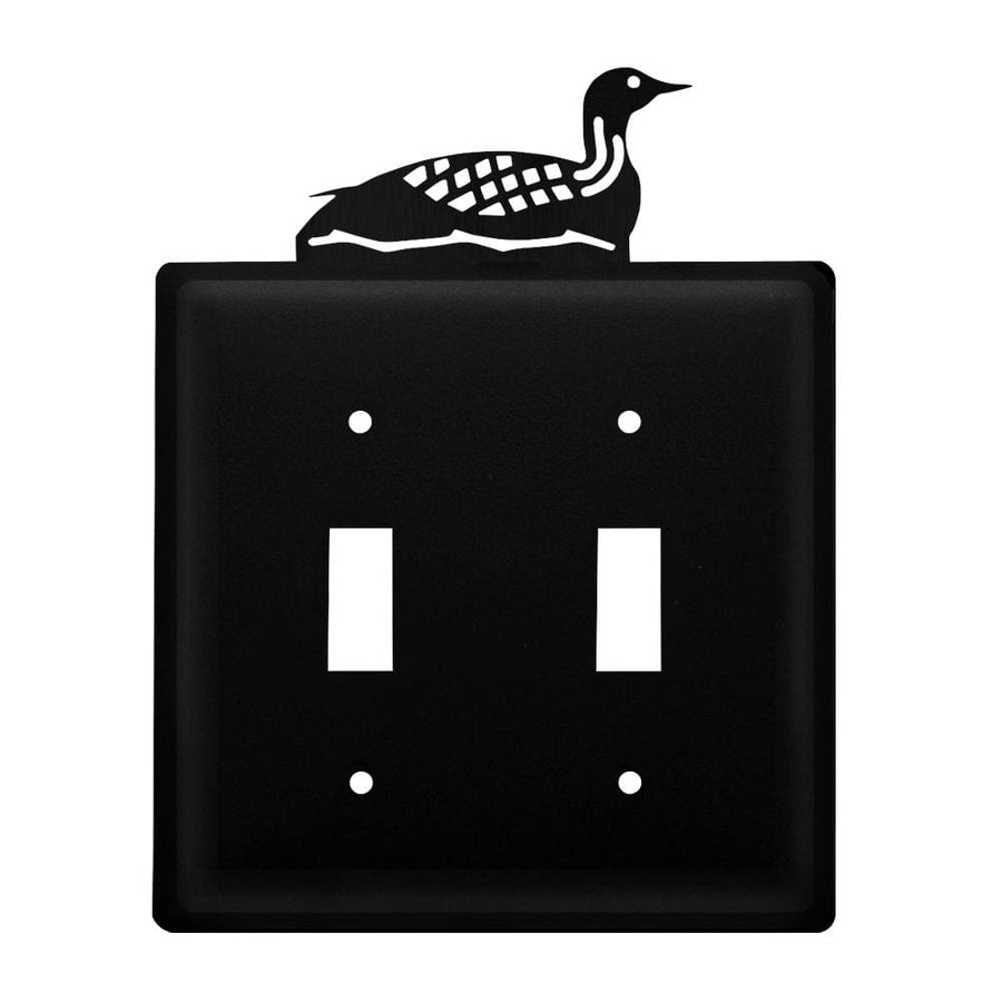 Wrought Iron Loon Double Switch Cover light switch covers lightswitch covers outlet cover switch