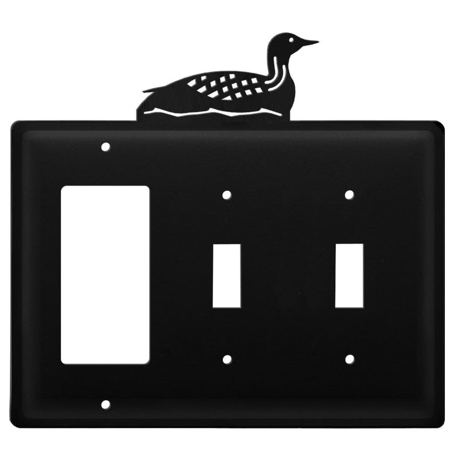 Wrought Iron Loon GFCI Double Switch Cover light switch covers lightswitch covers outlet cover