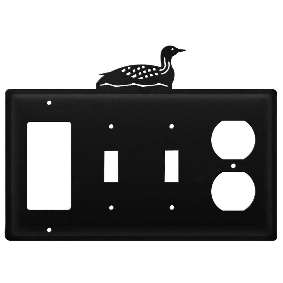 Wrought Iron Loon GFCI Double Switch Outlet Cover light switch covers lightswitch covers outlet