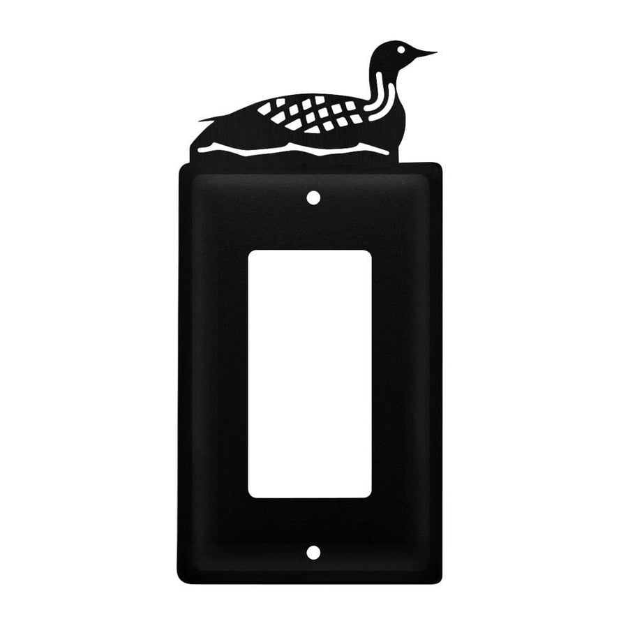 Wrought Iron Loon Single GFCI Cover light switch covers lightswitch covers outlet cover switch