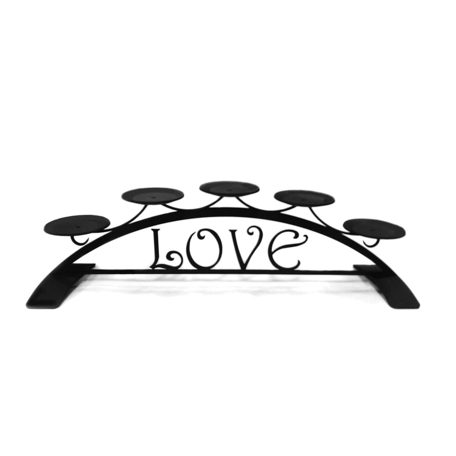 Wrought Iron Love Table Top Center Piece Candle Holder candle holder candle wall sconce center