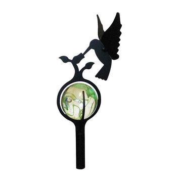 Wrought Iron Marble Hummingbird Garden Stake 38 Inches garden art garden decor garden ornaments