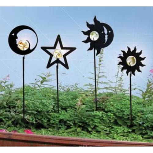 Wrought Iron Marble Star Garden Stake 38 In garden art garden decor garden ornaments garden stake