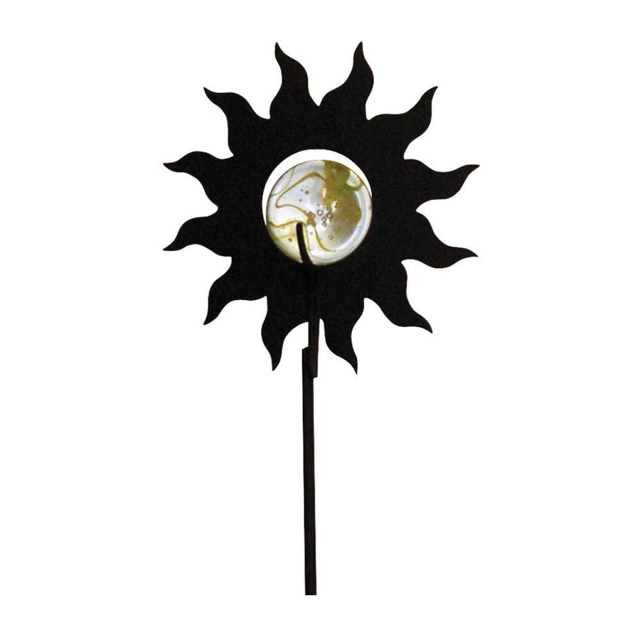 Wrought Iron Marble Sun Garden Stake 38 In garden art garden decor garden ornaments garden stake