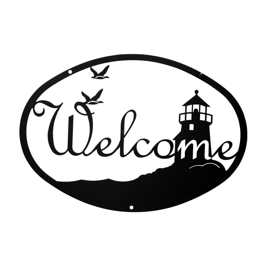 Wrought Iron Medium Lighthouse Welcome Home Sign Medium door signs outdoor signs welcome home sign