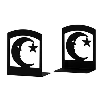 Wrought Iron Moon & Star Book Ends Set book end bookends childrens bookends moon bookends
