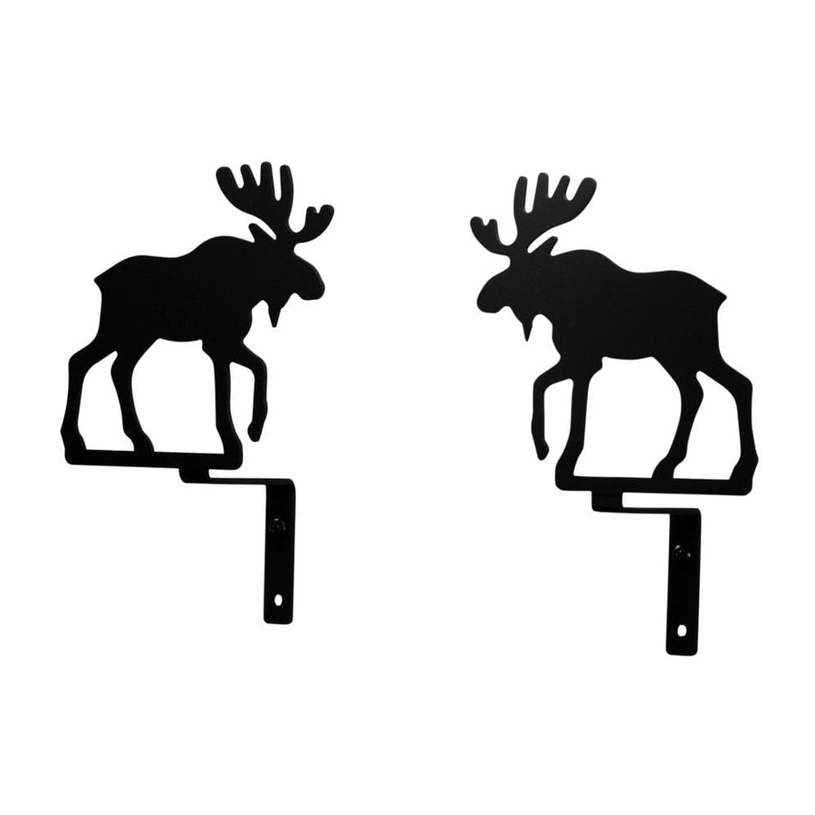 Wrought Iron Moose Curtain Swag Set curtain hardware curtain holdbacks curtain swags swag window