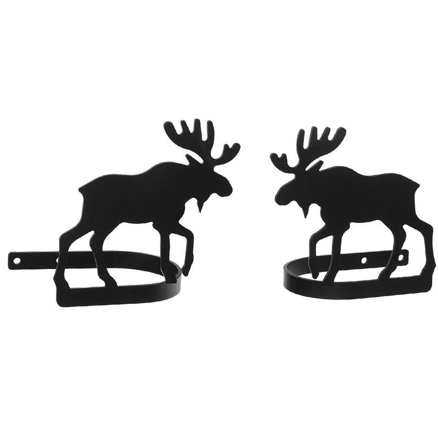 Wrought Iron Moose Curtain Tie Back Set curtain accessories curtain holdbacks curtain tie backs hold