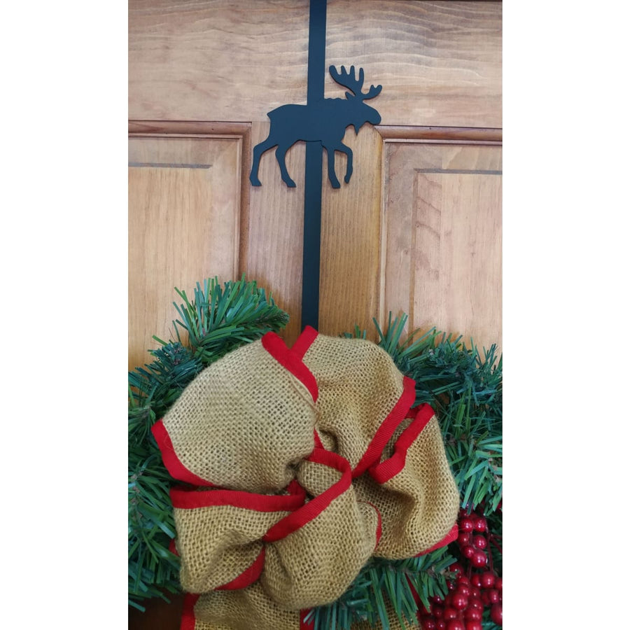 Wrought Iron Moose Door Wreath Hanger Christmas decorations christmas wreath stand door wreaths