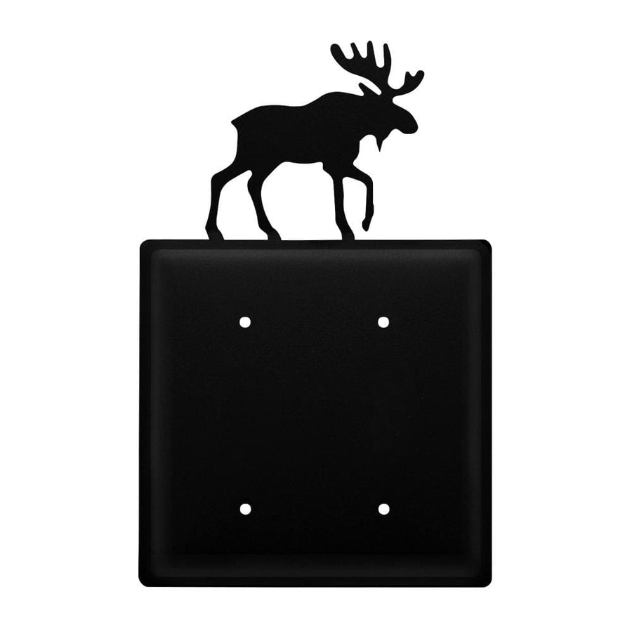 Wrought Iron Moose Double Blank Cover light switch covers lightswitch covers outlet cover switch