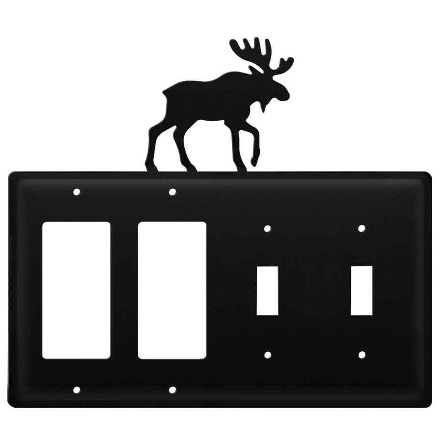 Wrought Iron Moose Double GFCI Double Switch Cover light switch covers lightswitch covers outlet