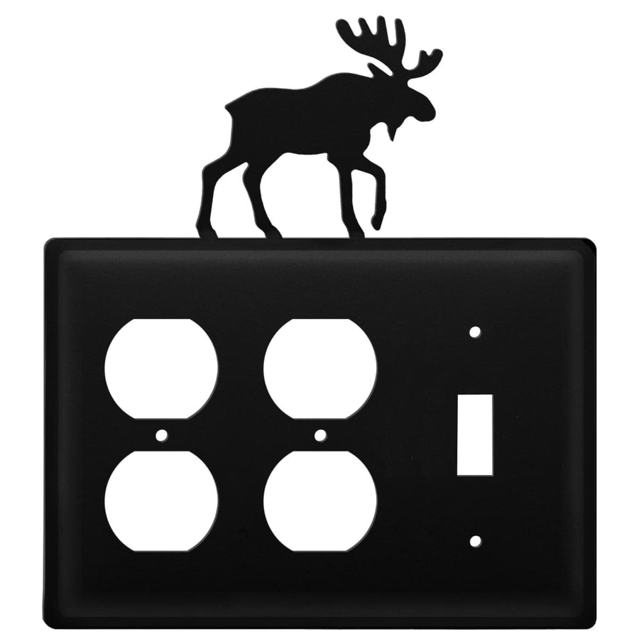 Wrought Iron Moose Double Outlet Switch Cover light switch covers lightswitch covers outlet cover