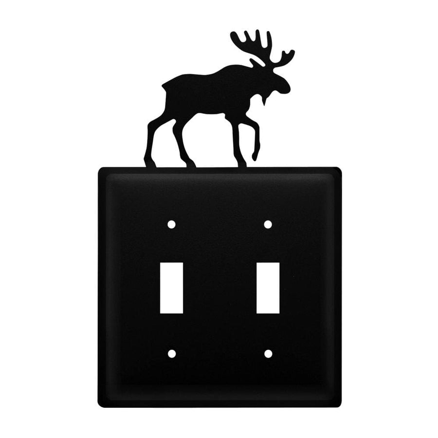 Wrought Iron Moose Double Switch Cover light switch covers lightswitch covers outlet cover switch