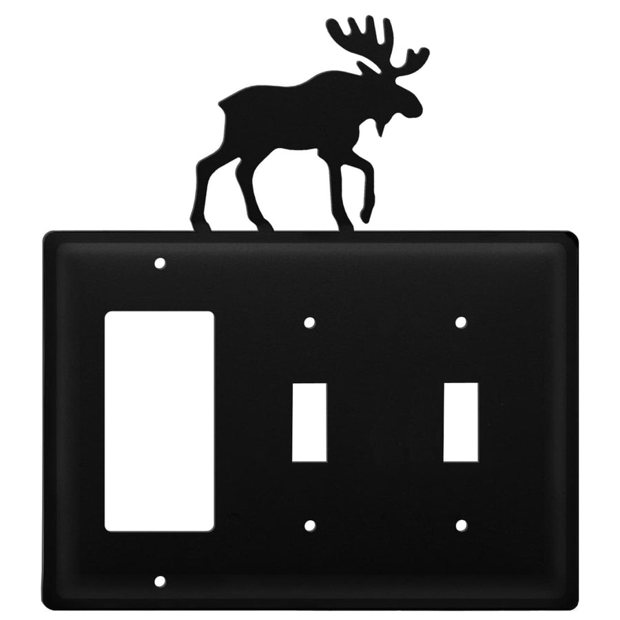 Wrought Iron Moose GFCI Double Switch Cover light switch covers lightswitch covers outlet cover