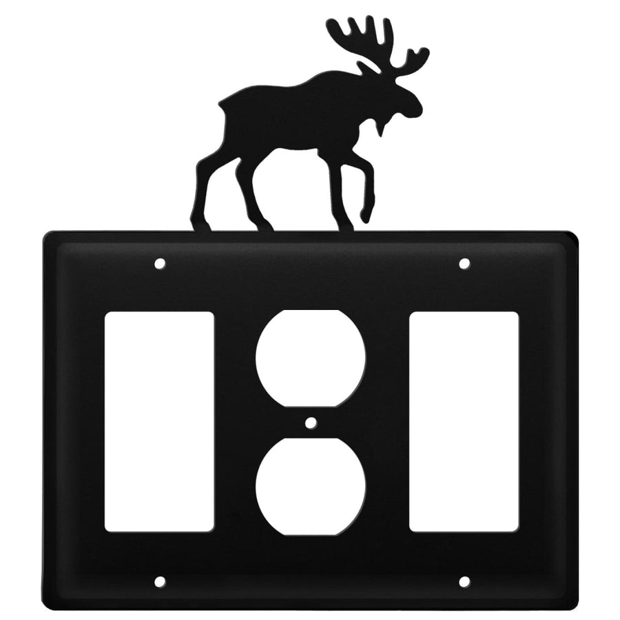 Wrought Iron Moose GFCI Outlet GFCI Cover light switch covers lightswitch covers outlet cover switch
