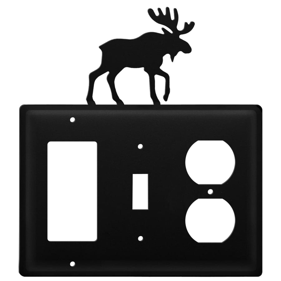 Wrought Iron Moose GFCI Switch Outlet Cover light switch covers lightswitch covers outlet cover