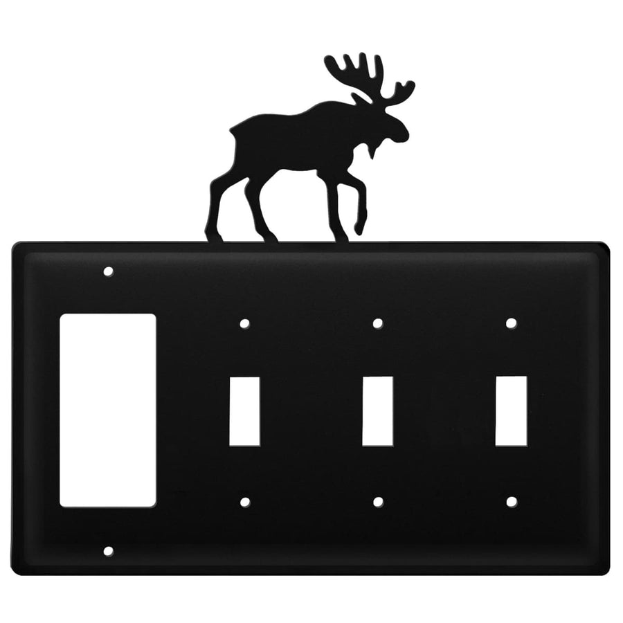 Wrought Iron Moose GFCI Triple Switch Cover light switch covers lightswitch covers outlet cover
