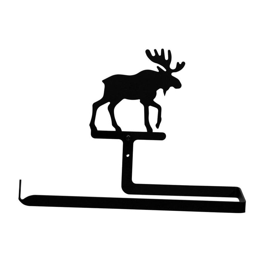 Wrought Iron Moose Horizontal Wall Paper Towel Holder kitchen towel holder paper towel dispenser