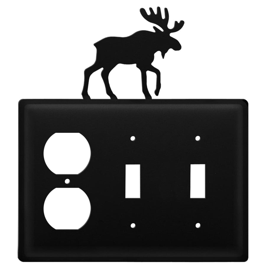 Wrought Iron Moose Outlet Double Switch Cover light switch covers lightswitch covers outlet cover