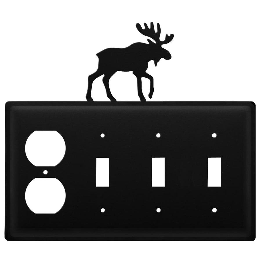 Wrought Iron Moose Outlet Triple Switch Cover light switch covers lightswitch covers outlet cover