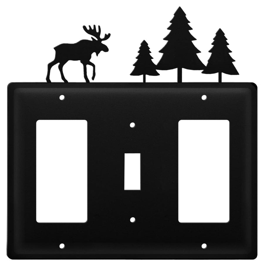 Wrought Iron Moose Pine Trees GFCI Switch GFCI Cover light switch covers lightswitch covers outlet