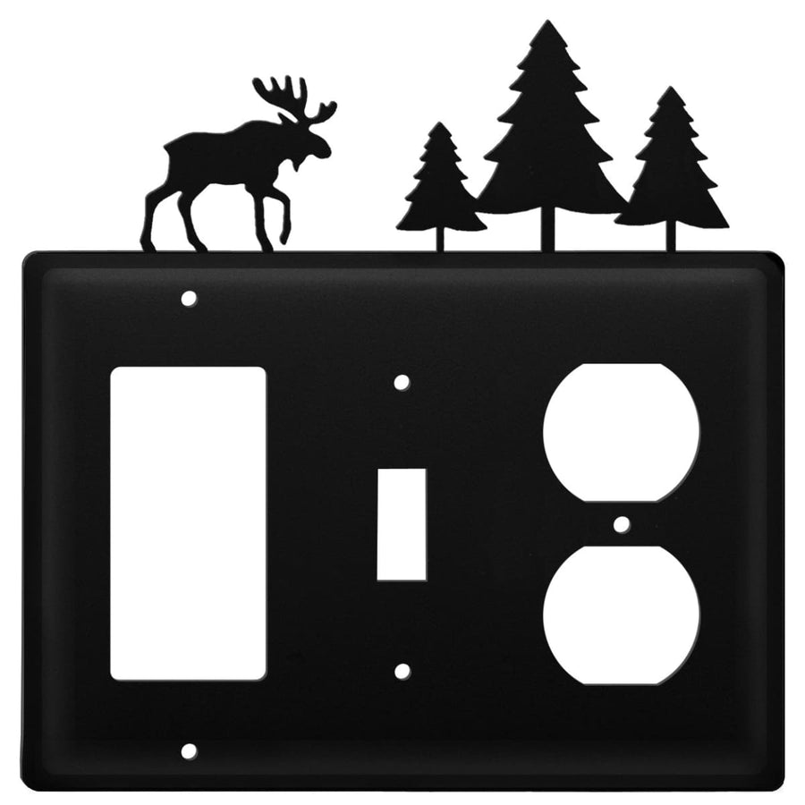 Wrought Iron Moose Pine Trees GFCI Switch Outlet Cover light switch covers lightswitch covers outlet