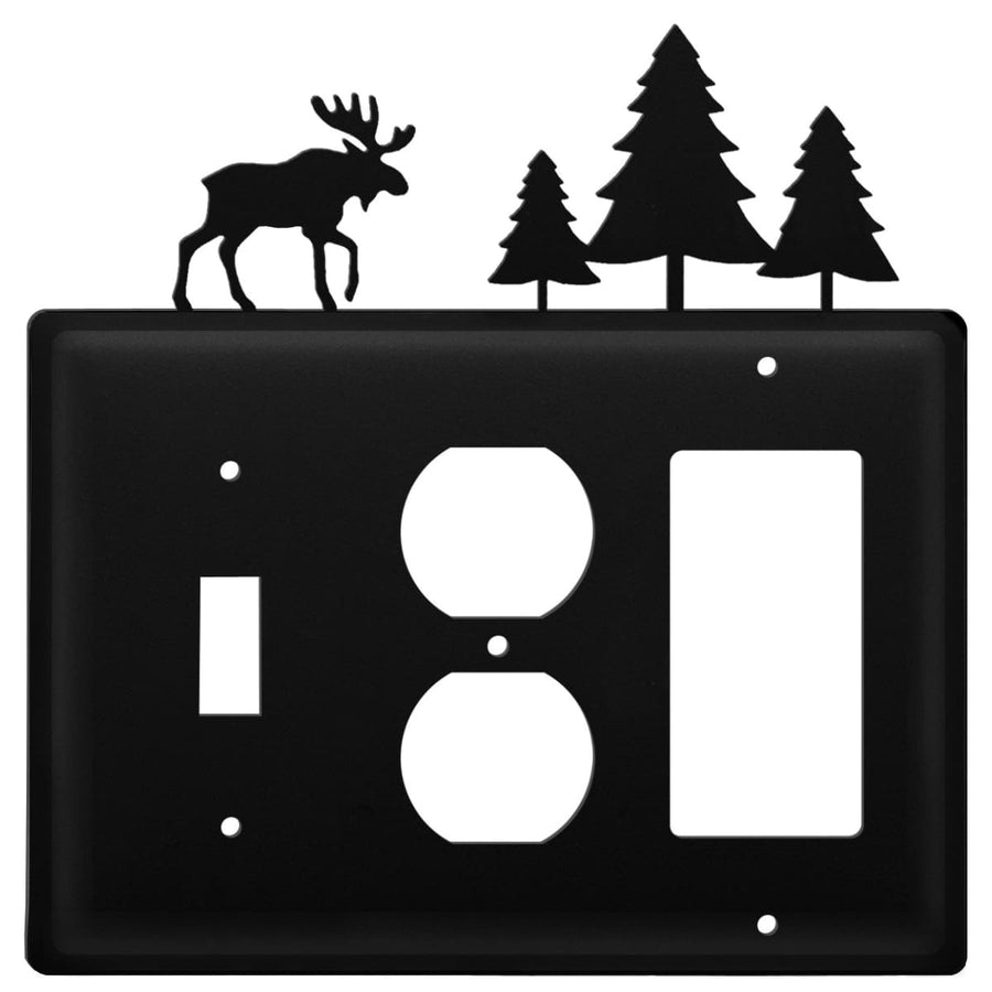Wrought Iron Moose Pine Trees Switch Outlet GFCI Cover light switch covers lightswitch covers outlet