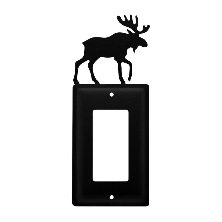 Wrought Iron Moose Single GFCI Cover light switch covers lightswitch covers outlet cover switch