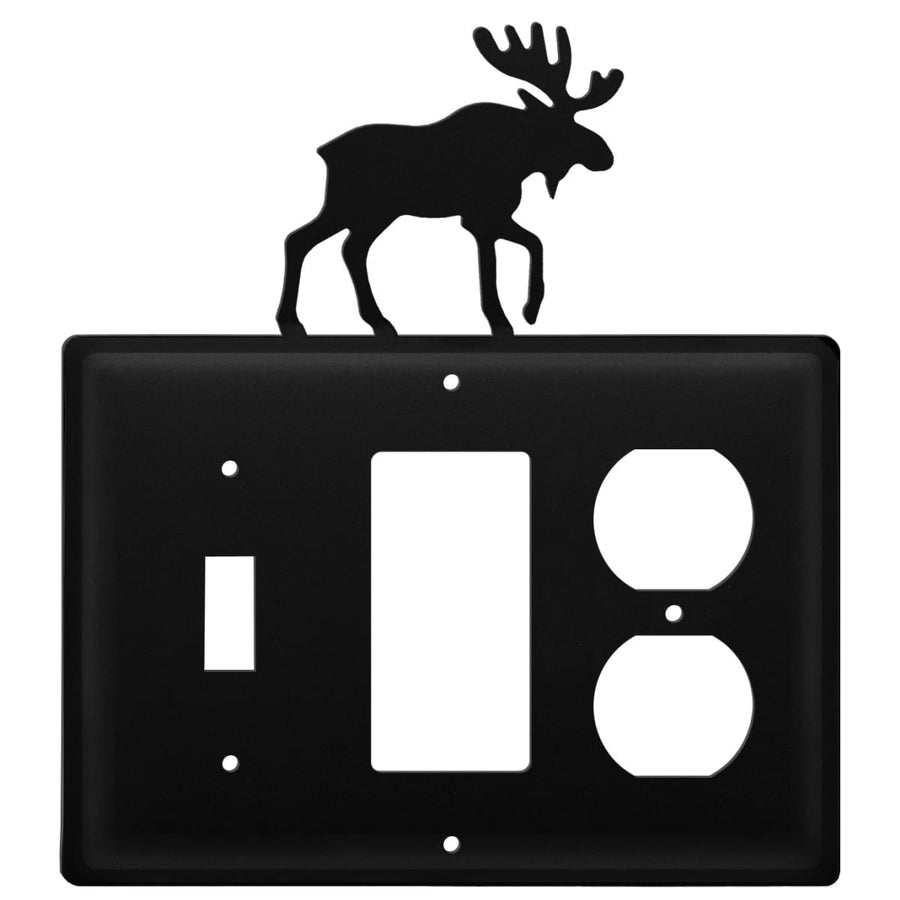 Wrought Iron Moose Switch GFCI Outlet Cover light switch covers lightswitch covers outlet cover