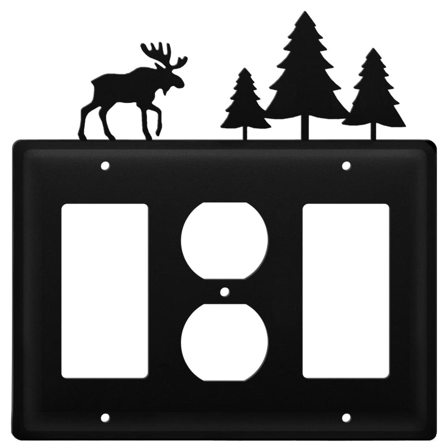 Wrought Iron Moose & Trees GFCI Outlet GFCI Cover light switch covers lightswitch covers outlet