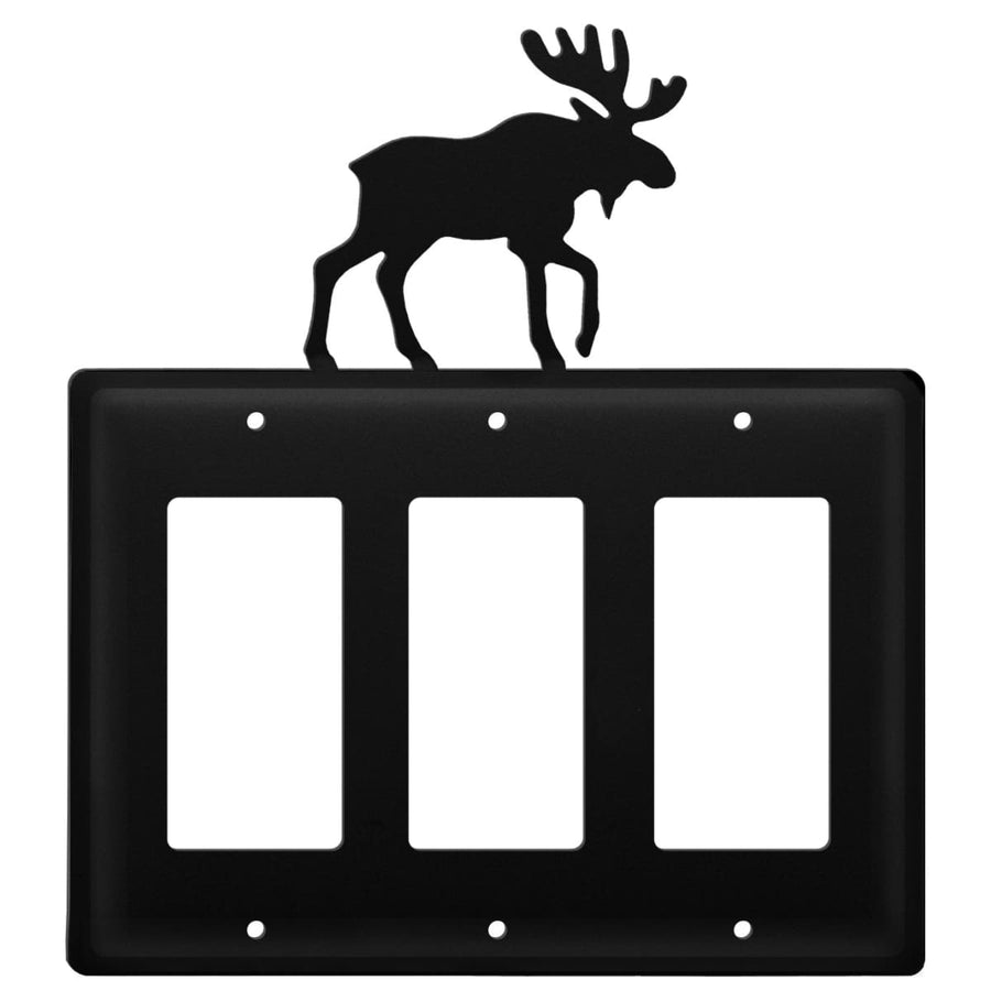 Wrought Iron Moose Triple GFCI Cover light switch covers lightswitch covers outlet cover switch