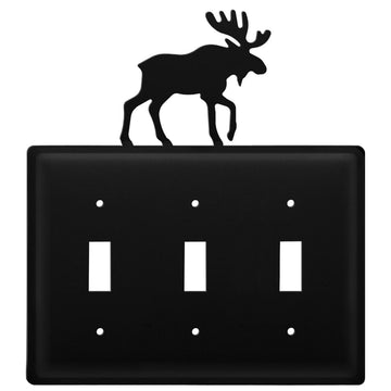 Wrought Iron Moose Triple Switch Cover light switch covers lightswitch covers outlet cover switch