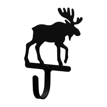 Wrought Iron Moose Wall Hook Decorative Xsmall coat hooks door hooks hook moose hook Moose Wall Hook