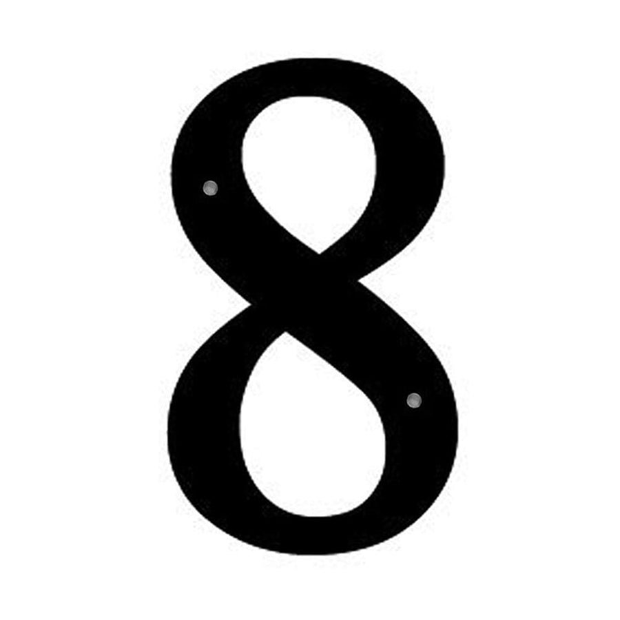 Wrought Iron Number 8 Medium 12 Inches door numbers featured house number house numbers number 8