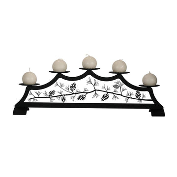 Wrought Iron Pine Cone Fireplace Pillar candle holder candle wall sconce center pieces sconce wall