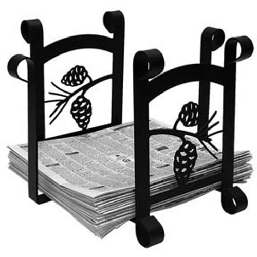 Wrought Iron Pine Cone Magazine Storage Newspaper Rack magazine rack magazine storage news paper