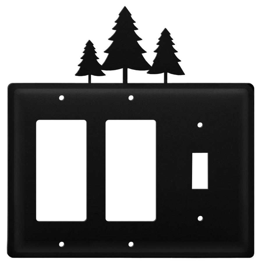 Wrought Iron Pine Trees Double GFCI Switch Cover light switch covers lightswitch covers outlet cover